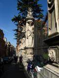 Along Via della Quattro FontaneSculpture in front of Palazzo Barbarini .. R9431