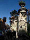 Along Via della Quattro FontaneSculpture in front of Palazzo Barbarini .. R9425