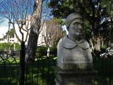 Sculpture of St. Thomas Aquinus in the Borghese Gardens .. R9437