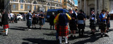 At Piazza del Popolo: Scotsmen fortifying themselves before rugby match with Italy .. R9459_60