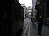Catching tram on Via Grossi .. 1673