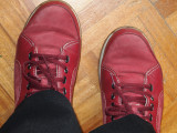 My red suede shoes.