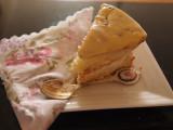 Passionfruit cream sponge.