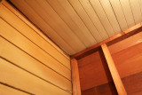 Top Corner - Siding and Dirty Ceiling