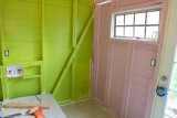 First Coat of Paint in the Laundry Room