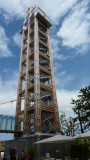 the 66,72m high wooden info tower
