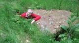 bronze age man leaving grave