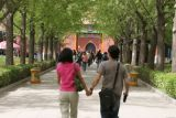 Janine and Hy at the Entrance to the Lama Temple