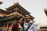 Joyce and Khanh at Lama Temple