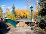 Estes Park riverwalk in autumn colors - IMG_2084