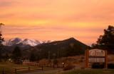 Orange sky in Estes Park - IMG_2156