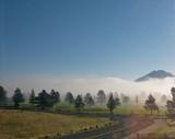 z IMG_2793 Dawn cloud on golf course - thru window - s90