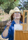 z_MG_2283 Elena Willets at easel by cabin.jpg