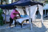 Having an open-air massage