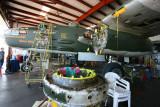B-25   Show Me   being overhauled.