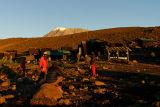 First glimpse of the Kibo peak