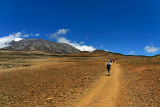 Crossing the saddle to Kibo hut