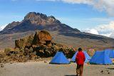 Day four at Kibo hut (altitude 4703 m) - altitude sickness starting to kick in