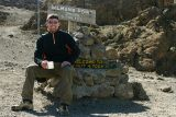 Kibo hut (altitude 4703 m) - trying to ignore the altitude sickness