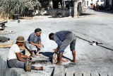 1959 Cyprus - fishermen and a cat