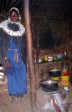 Inside a Maasai Hut