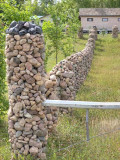 Fieldstone fence posts 9957