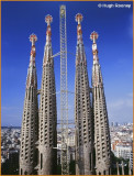 SPAIN - BARCELONA - LA SAGRADA FAMILIA'S TOWERS