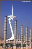 SPAIN - BARCELONA - MONTJUIC -  TELEPHONE TOWER