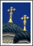 FRANCE - NICE - ONION DOMES ON THE CATHEDRALE ORTHODOXE RUSSE ST NICOLAS