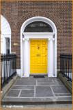 DUBLIN - GEORGIAN DOORWAY NEAR MERRION SQUARE