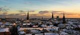 Snowy rooftops of Copenhagen 2