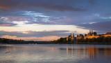 Søtorvet at Lake Peblinge sunset