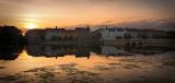 Sortedam Dossering and Lake Peblinge Sunset Panorama