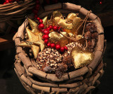 A basket full of Christmas goods