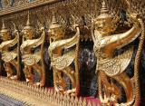 Closeup of the Garuda on the outer walls of the Temple of the Emerald Buddha