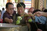 Praying with lotus