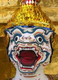 Closeup of demon-guardian II