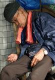 Happily sleeping man