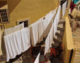 Hanging clothes -- a seldom sight in Santorini