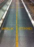 Walk left Stand right