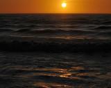 Dark Golden Sunset