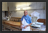 Butcher in his antique shop in Chartres