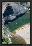 Having fun at the river Ardèche