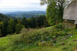 View over the slopes of Black Forest to the Vosges mountain range