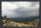 Corse, Thunderstorm over Bavella Mountains