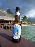 Hinano Beer with a view