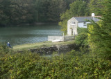 artist on the dam