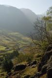 Seathwaite valley northwards from Sour Milk Gill