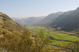 Seathwaite valley southwards from Sour Milk Gill