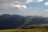 Glaramara left and Langdales peeping over horizon right